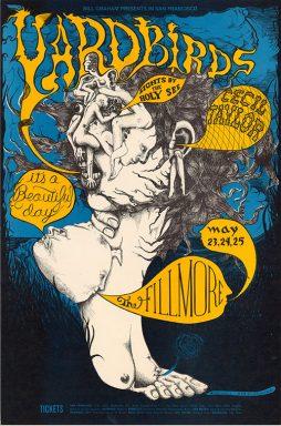 Yardbirds Fillmore Concert Framed Poster Art Print