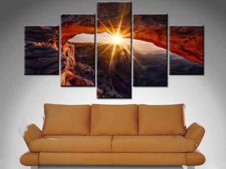 Yellow Canyon Sunrise 5 Panel
