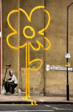 Yellow Line Man canvas print