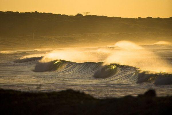 Yellow ocean sunset canvas print