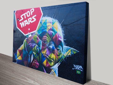 Yoda Stop wars canvas print