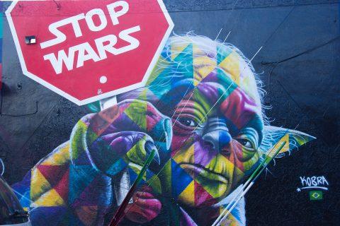 Yoda Stop wars graffiti art