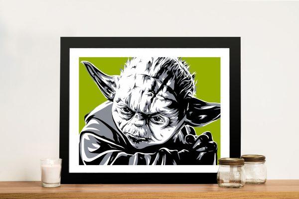 Yoda Pop Art Print on canvas