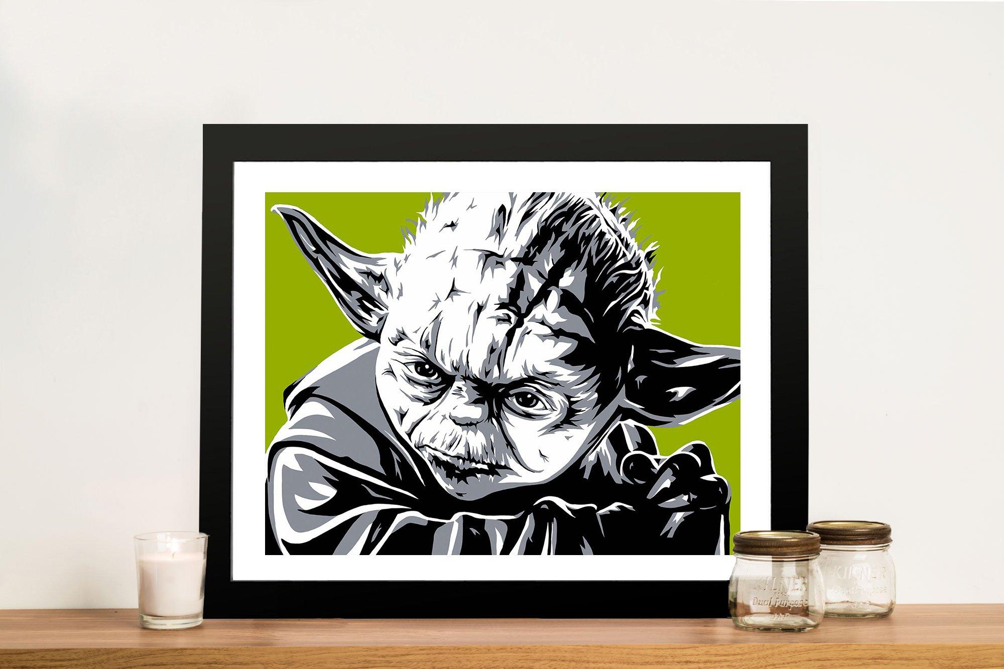 Yoda Framed Pop Art Print on Canvas