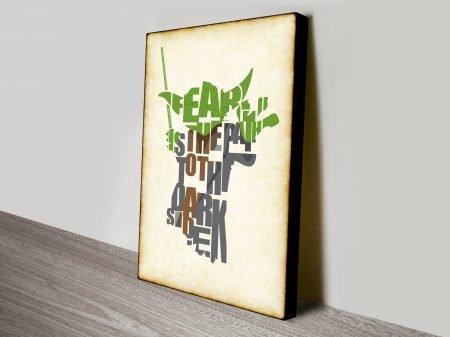 Yoda Typographic Wall Star Wars Art