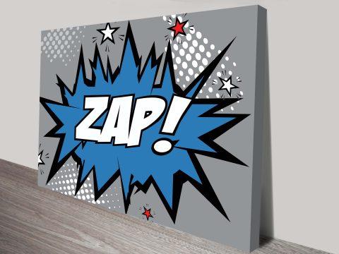 Zap Comic book Canvas Art