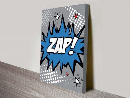 Zap Comic book Wall Art