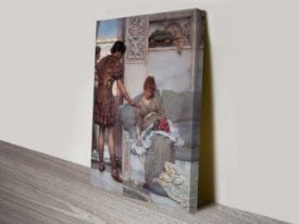 A Silent Greeting Lawrence Alma Tadema Classical Art Print