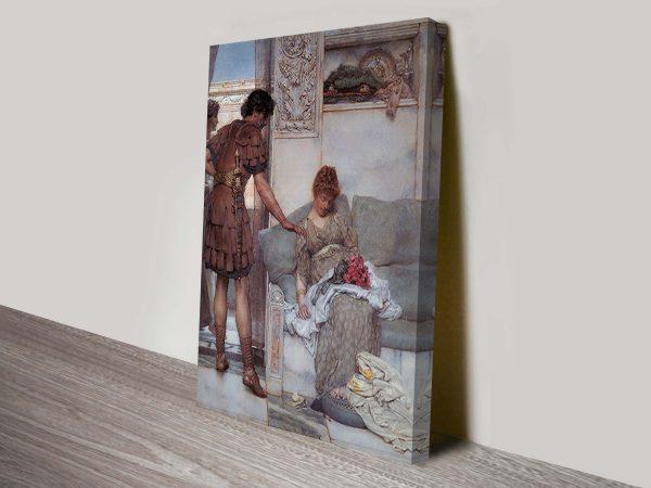 A Silent Greeting Lawrence Alma Tadema Classical Art Print