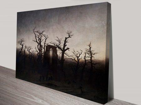 Print Abbey Among Oak Trees Casper Friedrich Classical Wall Art On Canvas