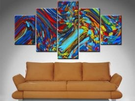 free spirit 5 panel wall art canvas print