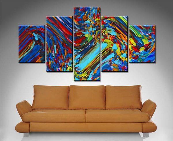 free spirit 5 panel wall art canvas print