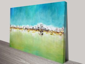 City Skyline Abstract Canvas Wall Art Australia