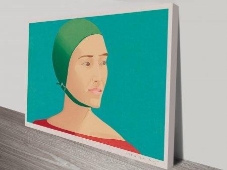 Alex Katz The Green Cap Vintage Pop Art Print