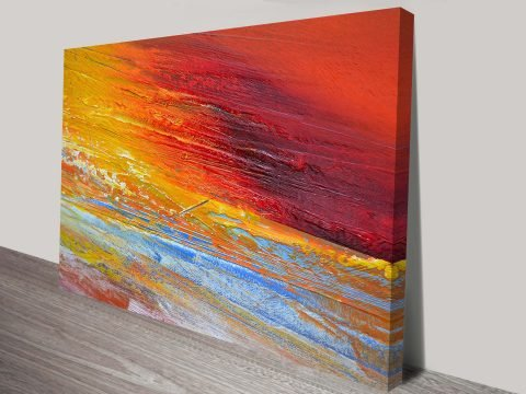 Angry Sunset Canvas Wall Art