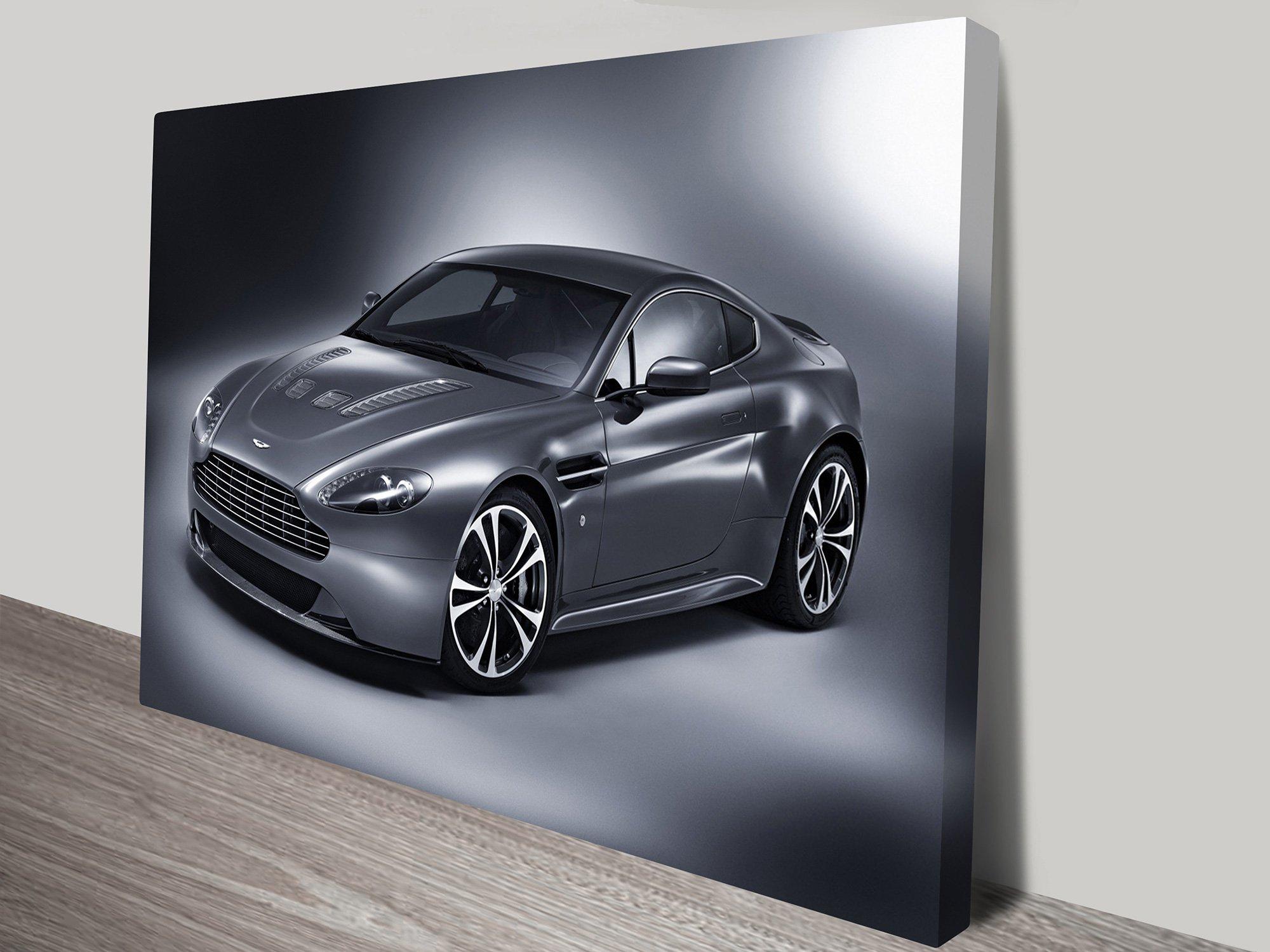 Aston Martin V12 Print on Canvas