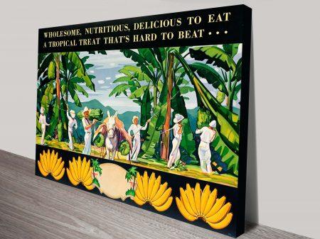 bananas vintage poster canvas