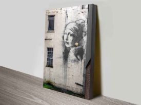 Lady On The Wall Art Print