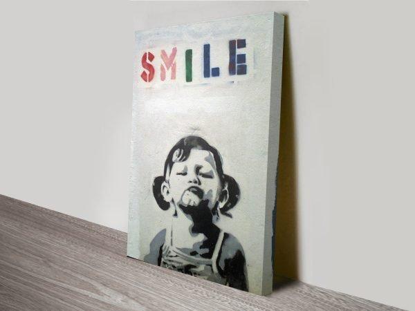 banksy art smile