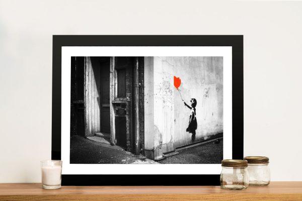 banksy balloon-girl-canvas print Framed Wall Art