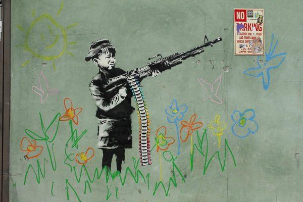 banksy child soldiers print