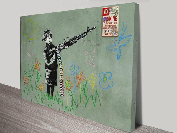 banksy child soldiers print.
