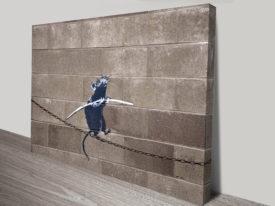 banksy funambulist rat art