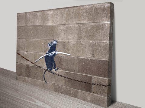 Buy Funambulist Rat Banksy Art Online