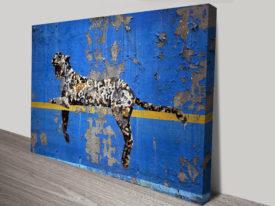 banksy graffiti-leopard bronx zoo canvas