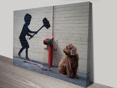 banksy hammer boy artwork