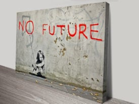 banksy no future canvas print