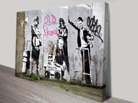 Banksy old skool canvas print