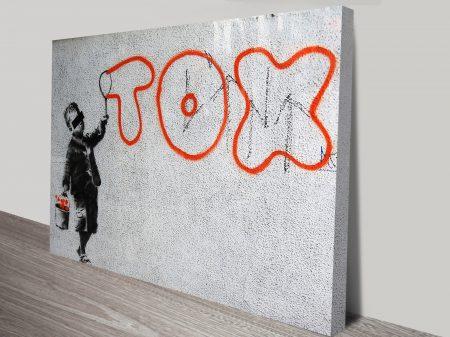 banksy print art tox