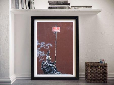 Banksy Red Indian Framed Wall Art Brisbane