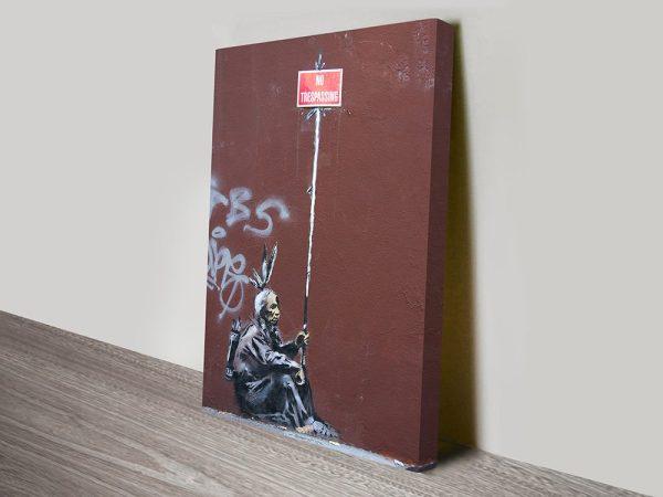 banksy red indian art
