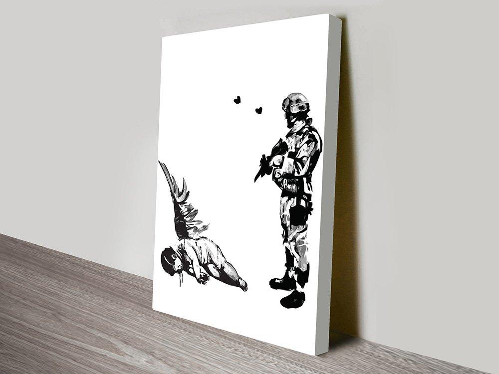 Kill Cupid Banksy Print on Canvas