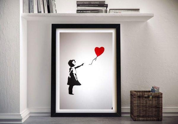 Banksy-Baloon Girl Framed-Wall-Art