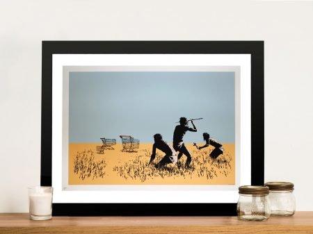 Trolley Hunters Banksy Print on Canvas
