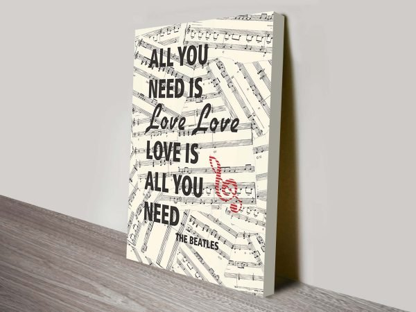 beatles all you need is love lyrics artwork