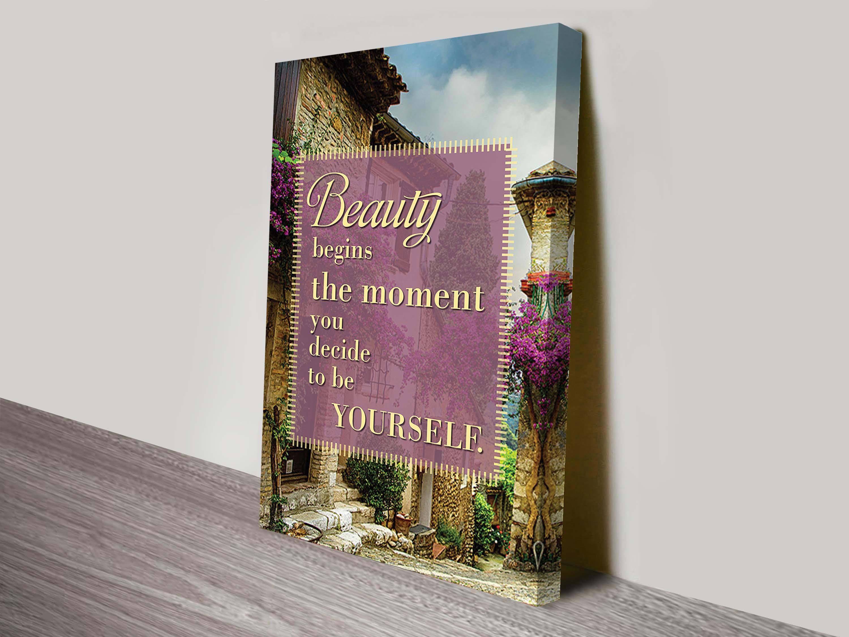Beauty Inspirationa Quote On Wall Art Canvas Australia