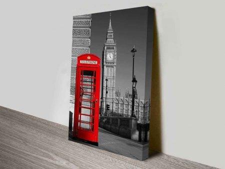 Big Ben Red Telephone Box London British Photography Canvas Wall Art