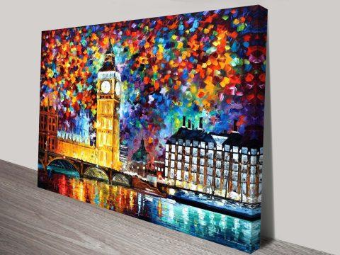 Big Ben London Contemporary Painting Leonid Afremov Print