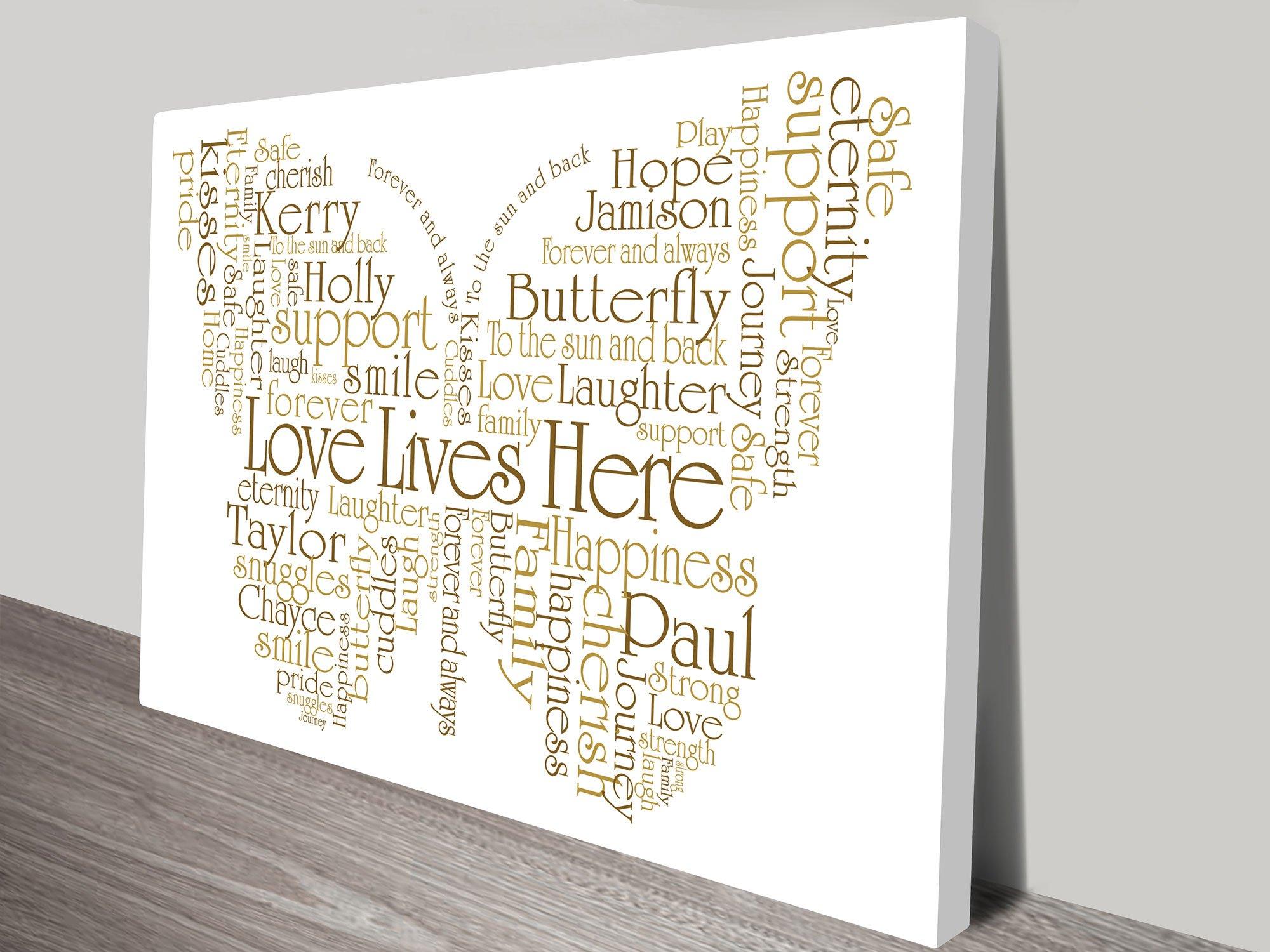 Bespoke Butterfly Shape Custom Wall Art