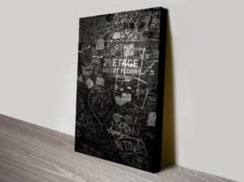 Buy a Black and White Framed Graffiti Print