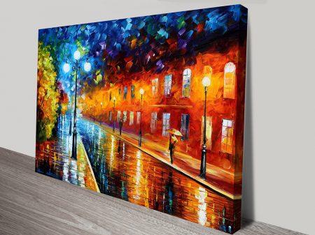 Blue Lights Leonid Afremov Print on Canvas Australia