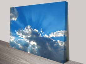 blue skies wall art canvas print australia