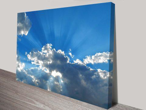 blue skies wall art canvas print australia