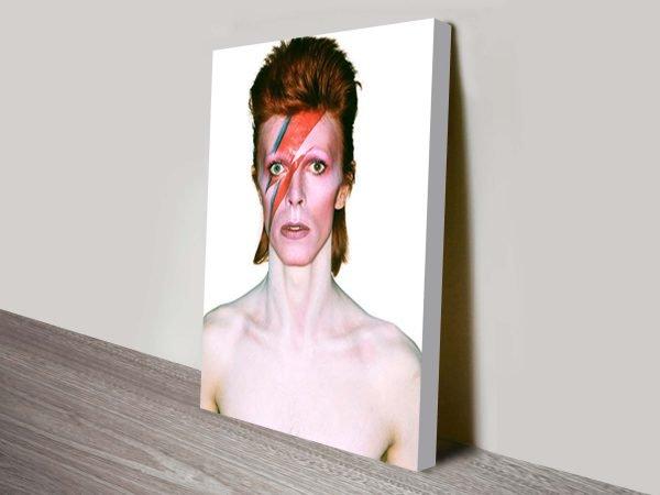 David Bowie pop art print on canvas