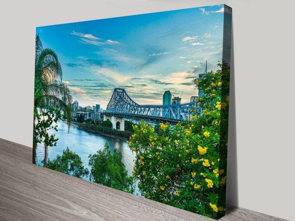 Brisbane Bridge View Australian Prints Online