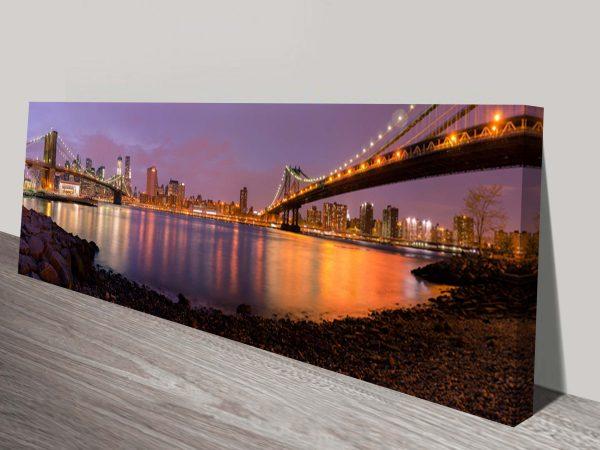 brooklyn bridge panoramic new york art